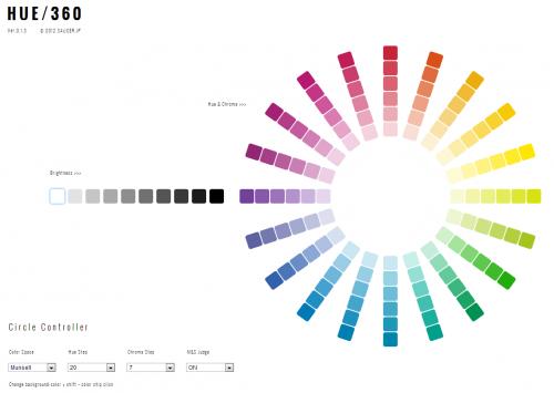 サイトの配色に困った時に簡単にバランスの取れた色を選ぶことができる調和配色アプリ「HUE/360」