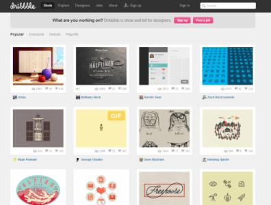 デザインのためのインスピレーションの助けになるSNS風コミュニティサイト「Dribbble」